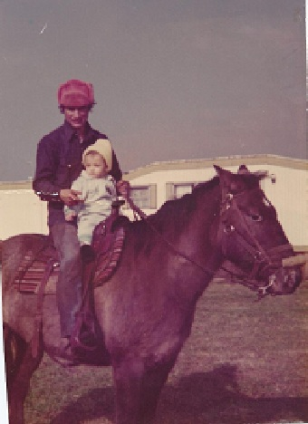 Dad and me about 1975